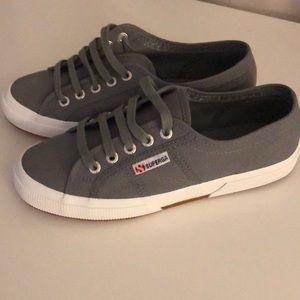 Superga grey canvas sneaker Sz 38
